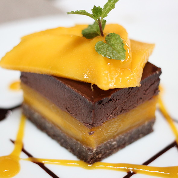 Chocolate and Mango Mousse Cake @ The Farm at San Benito