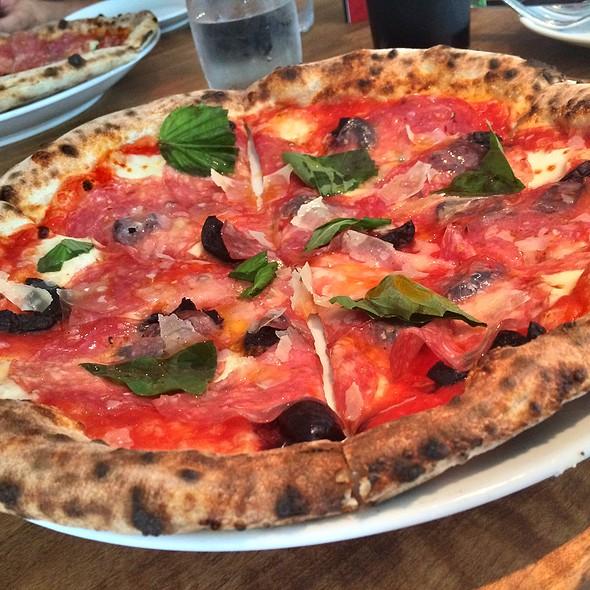 Salami And Olive Pizza - Novo Pizzeria & Wine Bar, Vancouver