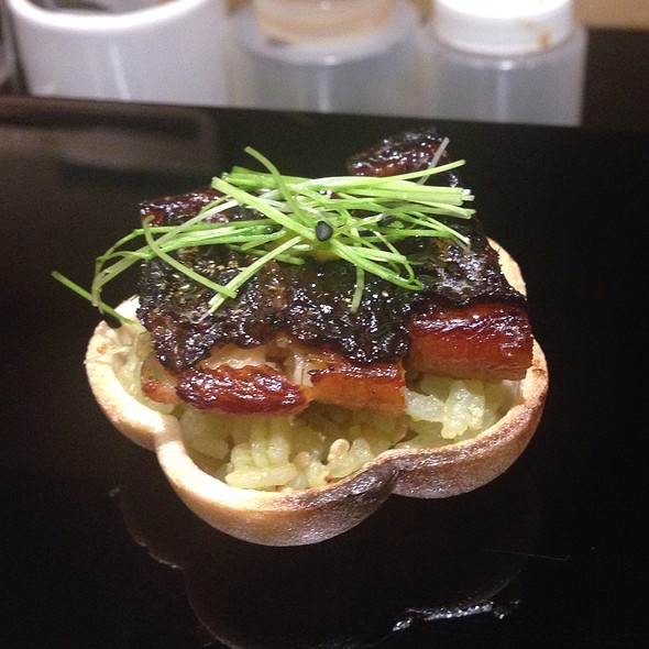 Bbq Eel On Monaka Rice Cracker @ Kusakabe