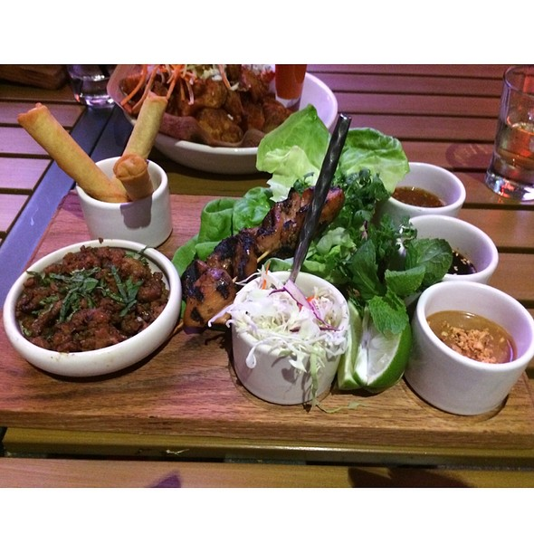 Ultimate Asian Chicken Wraps @ Guy Fieri's Vegas Kitchen & Bar