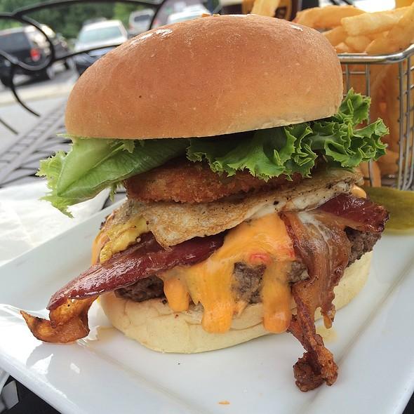 The North Carolinian With Jalapeno Parmesan Fries @ Hop's Burger Bar