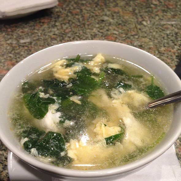 Spinach Egg Drop Soup - Artu, Boston, MA