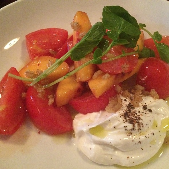 Peach And Early Girl Tomato Salad @ Blue Plate