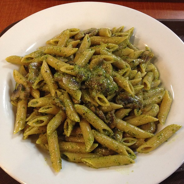 Whole Wheat Pasta With Pesto Sauce And Mushrooms @ Luciano's