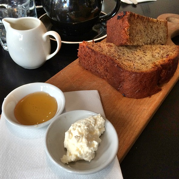 Banana Bread With Ricotta And Honey @ Janus Cafe