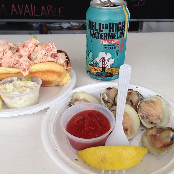 Clams On Half Shell And Lobster Roll