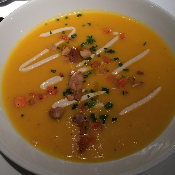 Chilled Carrot & Ginger Soup - Michael's, New York, NY