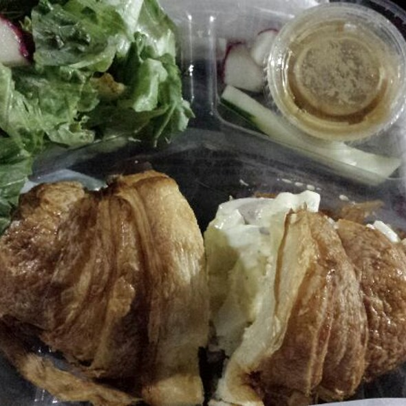 Egg Salad Croissant And Ginger Salad