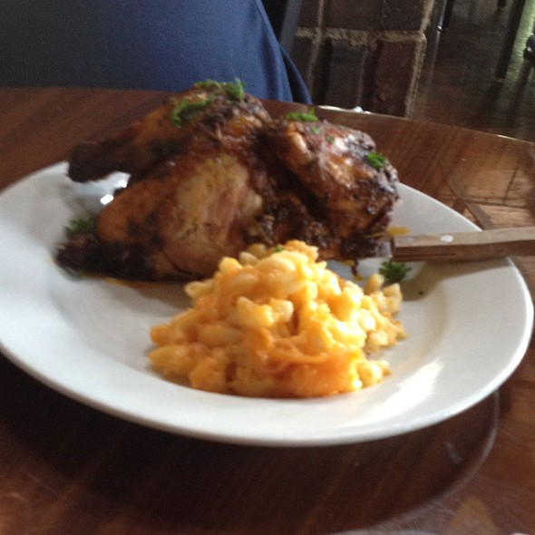 Half Herb Roasted Chicken With Side Of Mac & Cheese - Paschal's Restaurant, Atlanta, GA