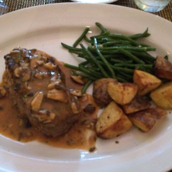 Steak With Mushroom Sauce And Potato's And Green Beans - Dal Toro, Las Vegas, NV