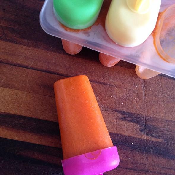 Carrot Sorbet Pop @ Home