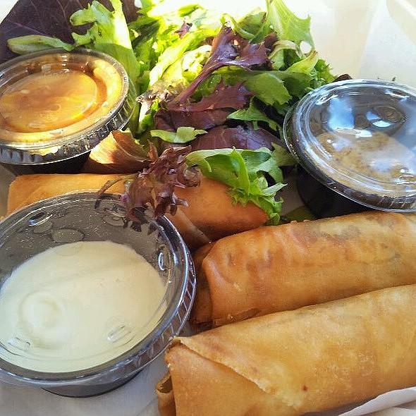 Southern Egg Rolls With Collards @ Great Southern Cafe