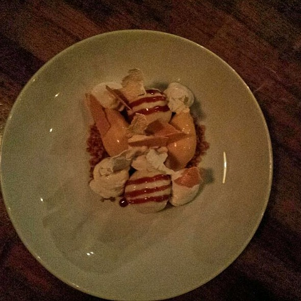 Mountain Yam, Caramelized White Choclate , Popcorn And Coconut @ Ink.