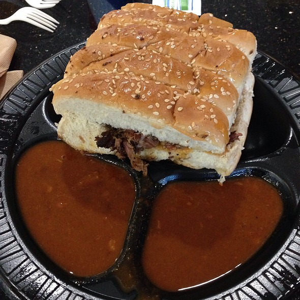 Chopped Brisket Sandwich Combo @ The Salt Lick -Dfw