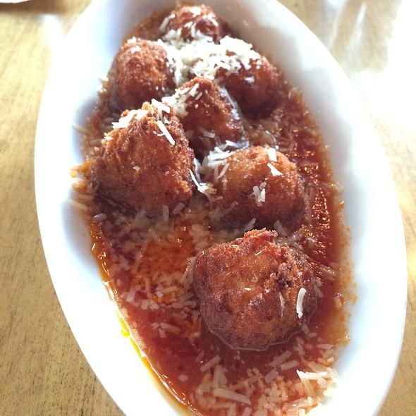Arancini - Fried Rice Balls Stuffed With Cheese @ Coppa Osteria