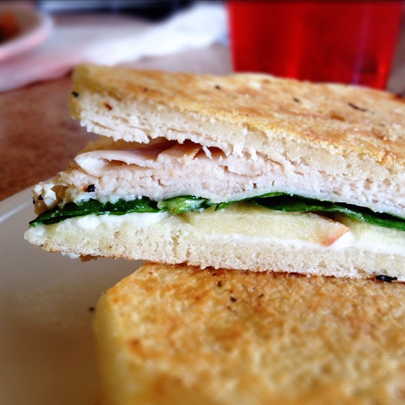 Turkey Honey Goat Cheese Panini @ Curbside Coffeehouse