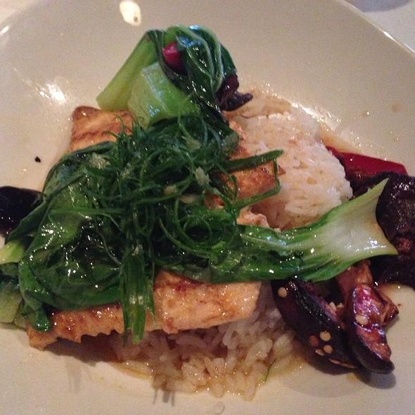 Arctic Char With Bok Choy & Wild Mushrooms - Rusty Pelican Restaurant, Newport Beach, CA