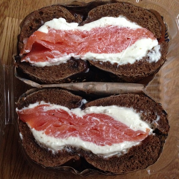 Smoked Salmon And Cream Cheese On Pumpernickel