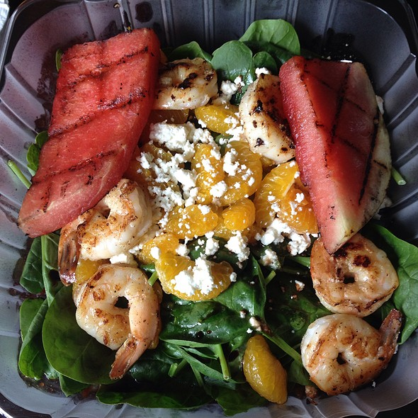 Grilled Watermelon Salad With Shrimp @ The Florida Yacht Club