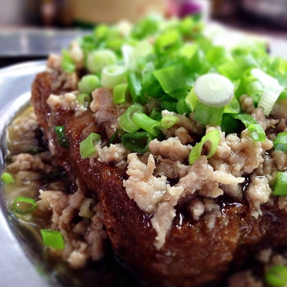 Crisp Fried Tofu With Minced Pork @ Restaurant Teochiew