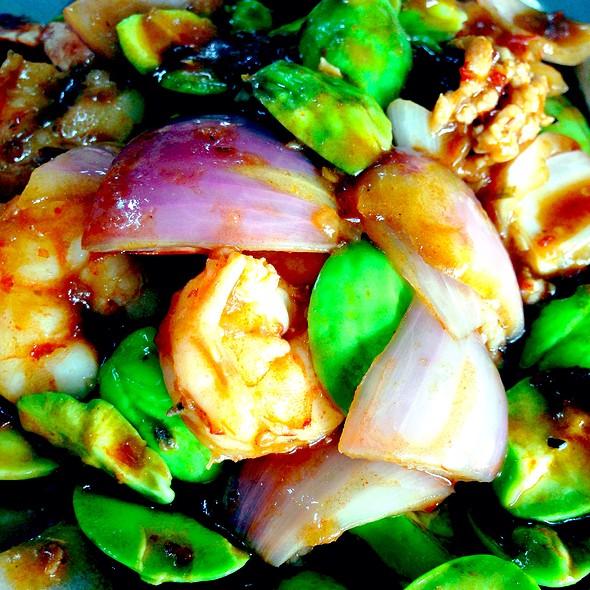 Sambal Belacan Petai With Shrimps @ Restaurant Teochiew