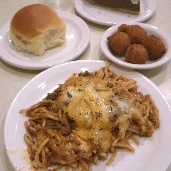 baked spaghetti @ K&W Cafeteria
