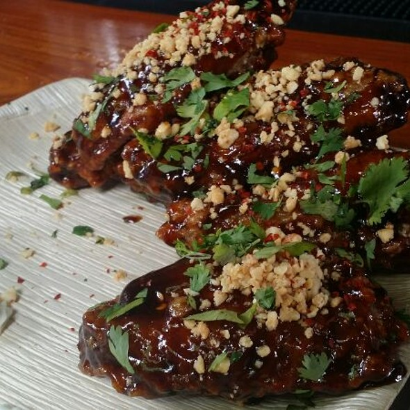Mongolian Chicken Wings @ Boheme Cafe and Wine Bar