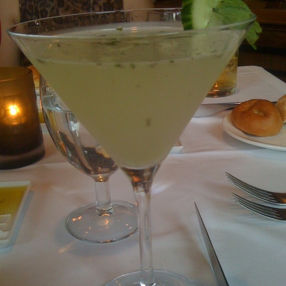 Cucumber Mint Martini - Trevi's Restaurant - Omni Mandalay, Irving, TX