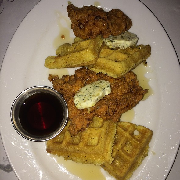 Buttermilk Fried Chicken And Cornbread Waffles - Brasserie 292, Poughkeepsie, NY