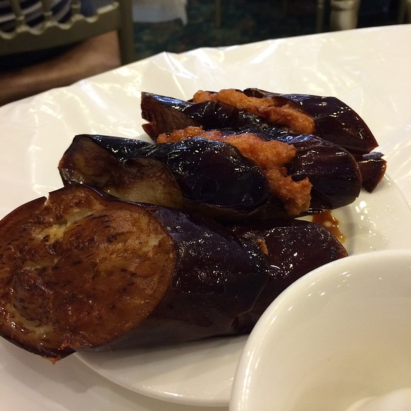 Fried Eggplant Stuffed With Shrimp Paste @ Rol San Restaurant