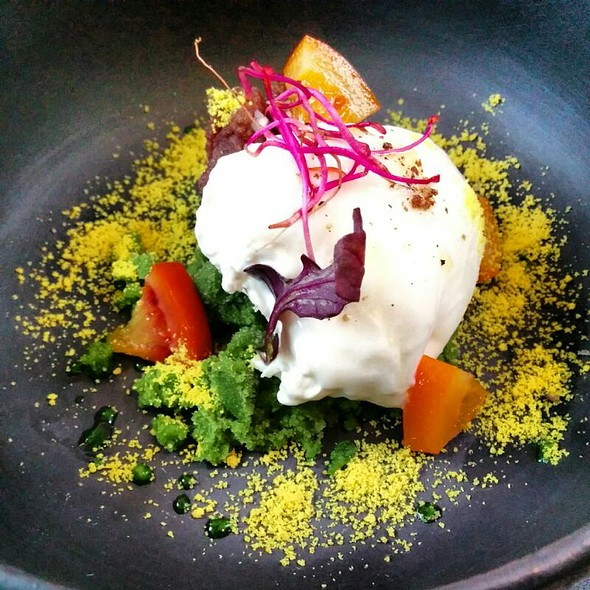 Burrata, Mustard Sorbet And Orange @ Dessance