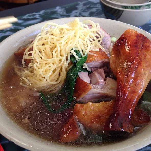Egg Noodle Soup With Roasted Pork