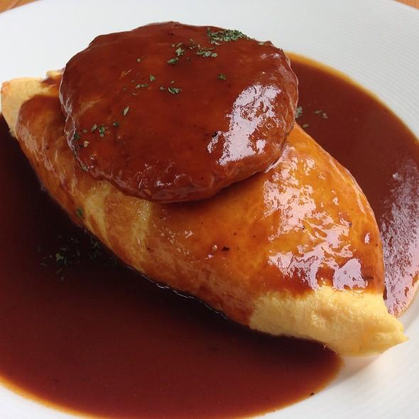 Demiglace Sauce Omurice With Hamburg @ Omu Japanese omurice