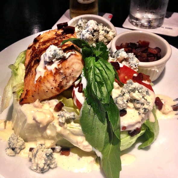 Iceberg Wedge Salad With Salmon @ Bv's Grill