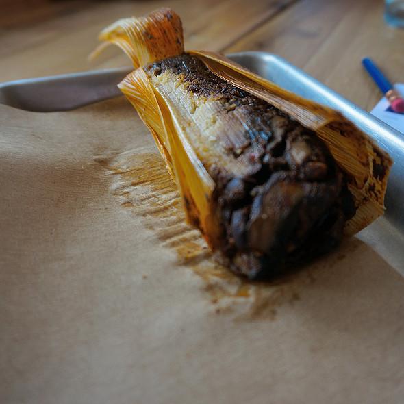Mushroom and mole tamale @ bartaco
