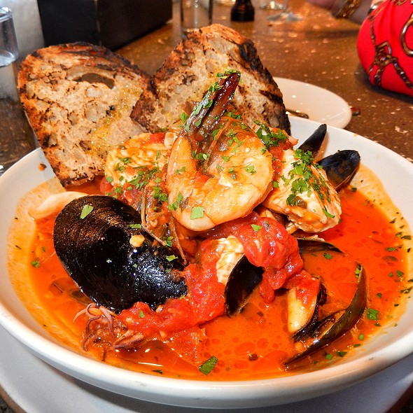 Rustic Seafood Stew With Shrimp, Squid, Mussels, And Fish @ Hog Island Oyster Co.