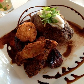 Char-Grilled Sirloin Steak - Spring House Restaurant, Kitchen & Bar, Winston-Salem, NC