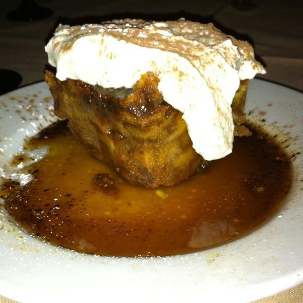 Pumpkin Bread Pudding With Caramel Rum Sauce at Bistro Romano