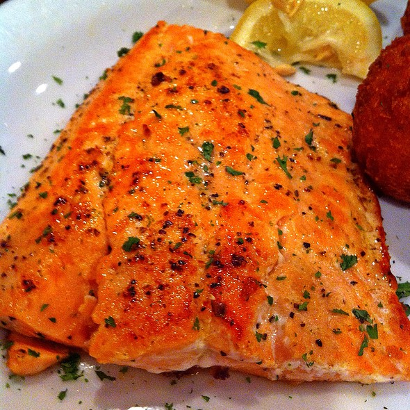 Grilled Salmon @ St. Mary's Seafood & More