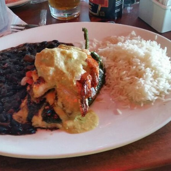 Tilapia & Crab Stuffed Poblano @ Fish Tales