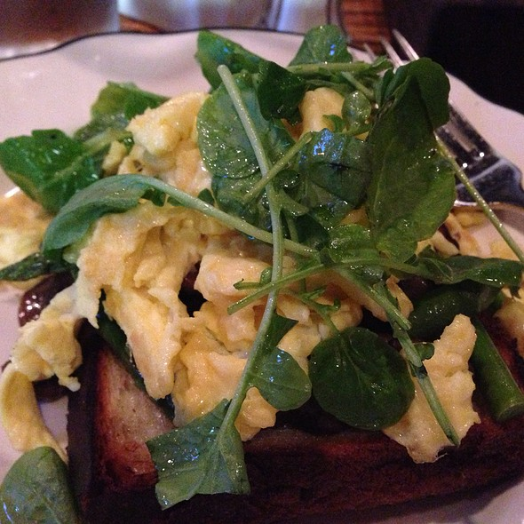 Mushroom Toast With Scrambled Eggs  - Tam O'Shanter, Los Angeles, CA