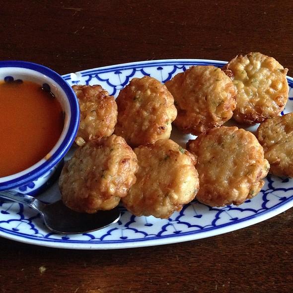 Tod Mun Kow Pod (Corn Cakes) - Khan Toke Thai House, San Francisco, CA