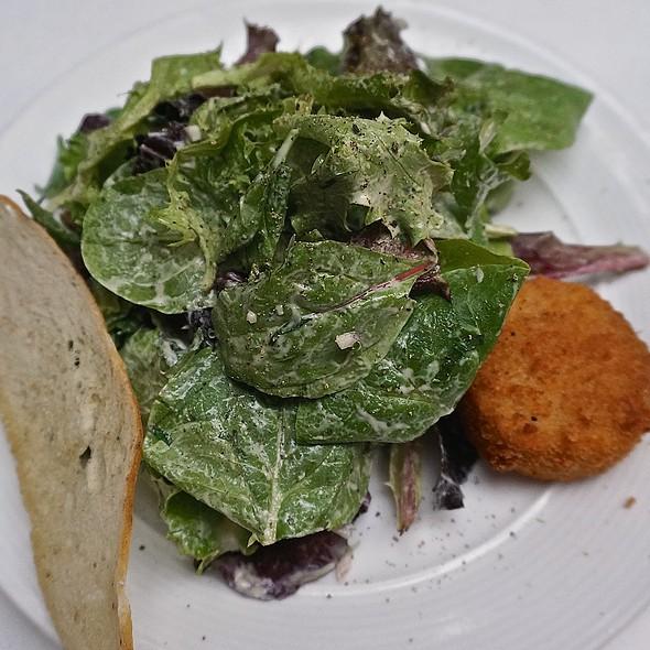 Salade Maraîchère au Chèvre Chaud, mesclun greens, Dijon vinaigrette, goat cheese crottin - Bistro Campagne, Chicago, IL