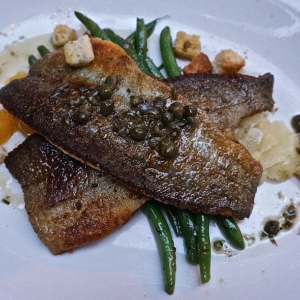 Truite Grenobloise, Rushing Waters trout, fresh citrus, capers, brown butter, haricots verts - Bistro Campagne, Chicago, IL