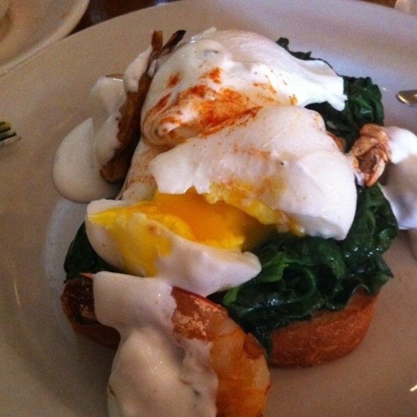Poached Eggs With Tarragon Shrimp Spinach