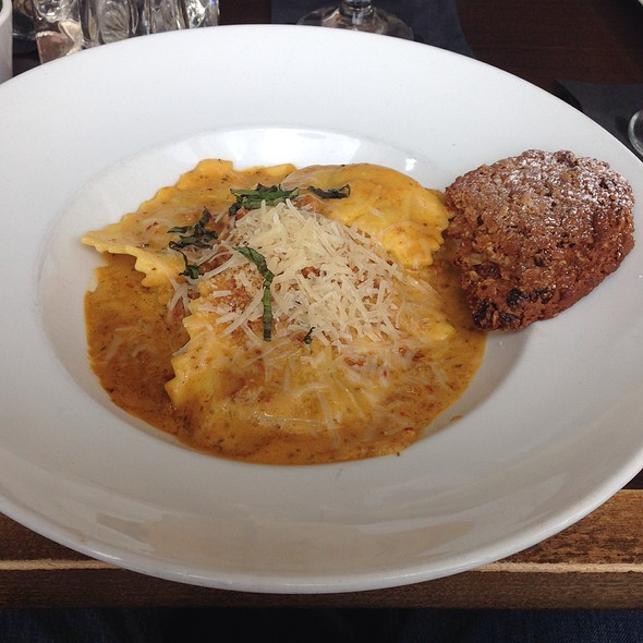 Broccoli And Sausage Ravioli - Top of the Hub, Boston, MA