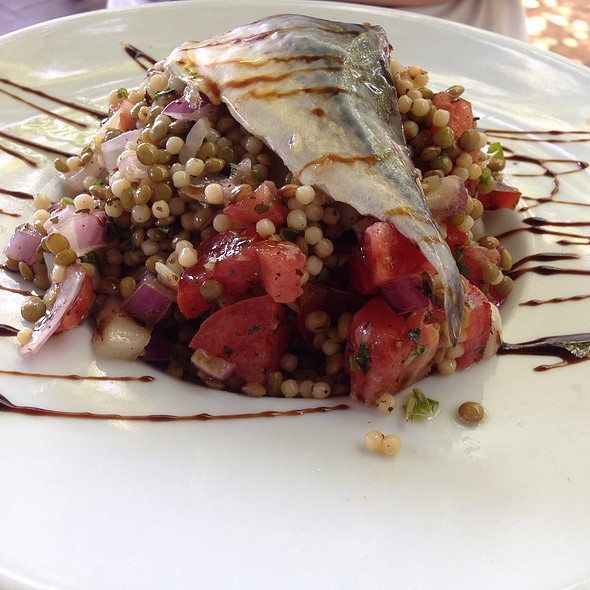 Mackerel With Lentils And Cous Cous Salad