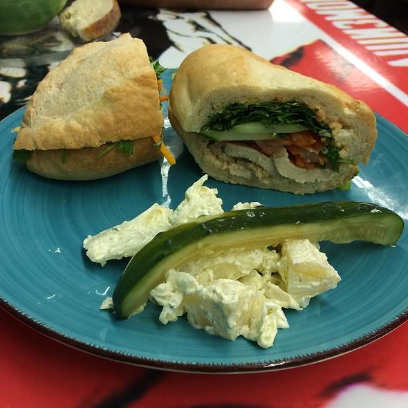Lemongrass Chicken Bahn Mi Sandwich