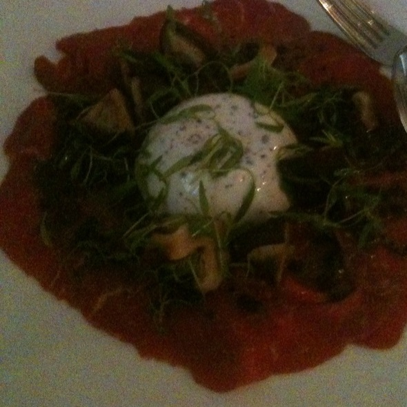 Wagu Beef Carpaccio With Truffle Pannacotta