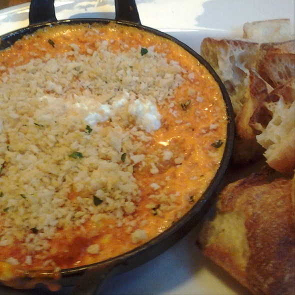 Shrimp And Red Bell Pepper Dip - Print Works Bistro, Greensboro, NC